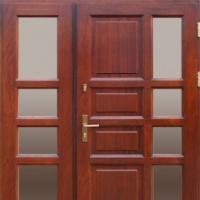 drzwi zewnętrzne ramowo szkieletowe dwuskrzydłowe